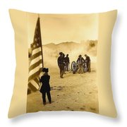 100th Anniversary Of Deactivation Ft. Lowell Tucson Arizona 1991 Toned 2008 Throw Pillow