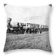 100th Meridian, 1866 Throw Pillow