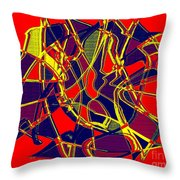 1010 Abstract Thought Throw Pillow