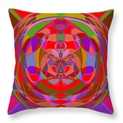 1015 Abstract Thought Throw Pillow