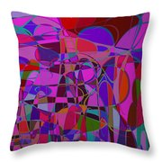 1017 Abstract Thought Throw Pillow