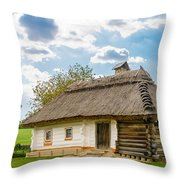 A Typical Ukrainian Antique House Throw Pillow