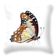 102 Perched White Lady Butterfly Throw Pillow by Amy Kirkpatrick