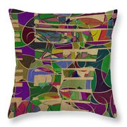 1023 Abstract Thought Throw Pillow