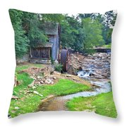 Sixes Mill - Dukes Creek - Square Throw Pillow