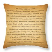 104- Theodore Roosevelt Throw Pillow