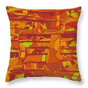 1045 Abstract Thought Throw Pillow