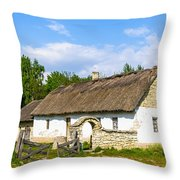 A Typical Ukrainian Antique House Throw Pillow