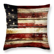 American Flag 33 Throw Pillow