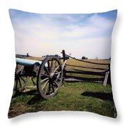 10th Mass Battery - Gettysburg Throw Pillow