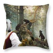 Borzoi - Russian Wolfhound Art Canvas Print Throw Pillow
