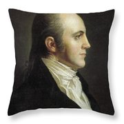 Aaron Burr (1756-1836) Throw Pillow