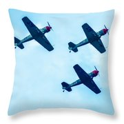 Action In The Sky During An Airshow Throw Pillow