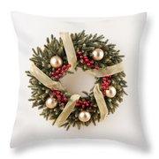Advent Christmas Wreath  Throw Pillow