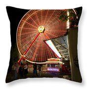 Amusement Park Throw Pillow