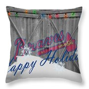Atlanta Braves Throw Pillow
