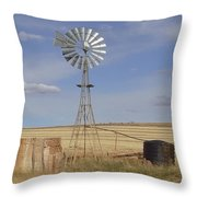 Australia - Windmill In The Wheat Field Throw Pillow