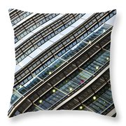 Canary Wharf London Abstract Throw Pillow