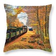 Cass Scenic Railroad Throw Pillow