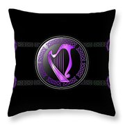 Celtic Harp Throw Pillow