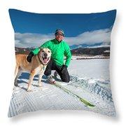 Colorado Cross Country Skiing Throw Pillow