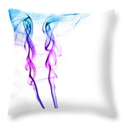 Colourful Smoke Throw Pillow