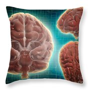 Conceptual Image Of Human Brain Throw Pillow