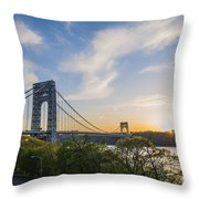 George Washington Bridge Throw Pillow