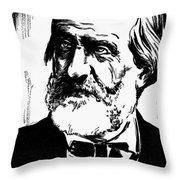 Giuseppe Verdi (1813-1901) Throw Pillow
