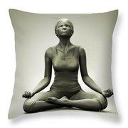 Meditation Pose Throw Pillow