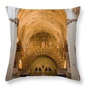 Mezquita Cathedral Interior In Cordoba Throw Pillow