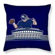 New York Giants Throw Pillow
