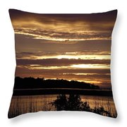 Outer Banks North Carolina Sunset Throw Pillow
