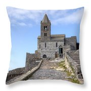 Porto Venere Throw Pillow