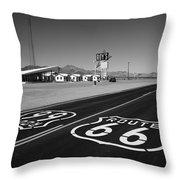 Route 66 Shield Throw Pillow