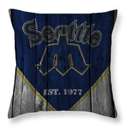 Seattle Mariners Throw Pillow
