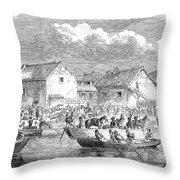 Second Opium War, 1860 Throw Pillow