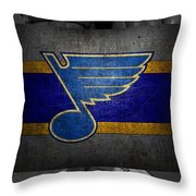 St Louis Blues Throw Pillow