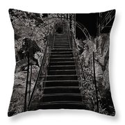 Staircase Leading To A Higher Level In Siloso Hotel In Sentosa Throw Pillow