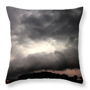Stong Nebraska Supercells Throw Pillow