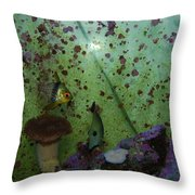 Tropical Fish And Coral Throw Pillow