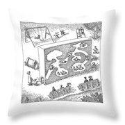 New Yorker February 14th, 2005 Throw Pillow