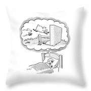 New Yorker December 12th, 2005 Throw Pillow