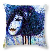 Vintage Hair Comb Throw Pillow