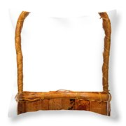 Wicker Basket Number Two Throw Pillow