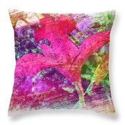 The Red Orchid Throw Pillow