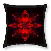 1107 - Mandala Red   Throw Pillow