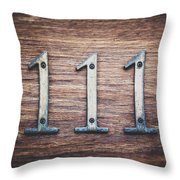 111 Or 3 Throw Pillow