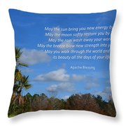 113- Apache Blessing  Throw Pillow
