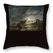 the battle of Santa Cruz de Tenerife Throw Pillow